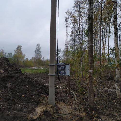 установка бетонного столба